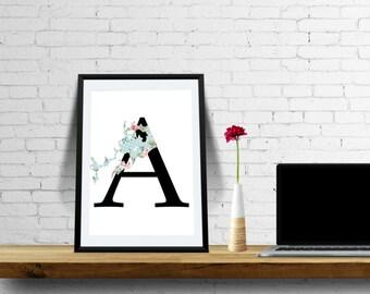 Downloadable Alphabet - Wall Art - Instant Download
