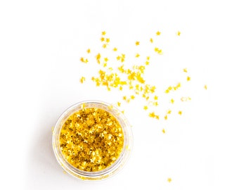 1oz (5g) Stars, Gold Metallic, Gluten-Free, Vegan, Edible Stars, Sprinkles, Stars
