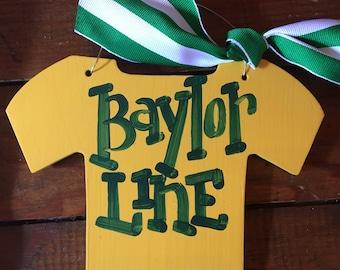 Baylor Bears BU Baylor Line Jersey Christmas Ornament - made to order