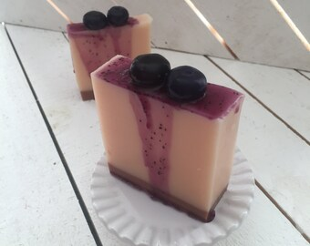 Blueberry Cheesecake Soap, Blueberry, Cheesecake, Soap, Bath time fun, Foodie