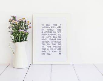 You are braver than you believe, stronger than you seem, smarter than you think - Winnie The Pooh Framed Quote Print