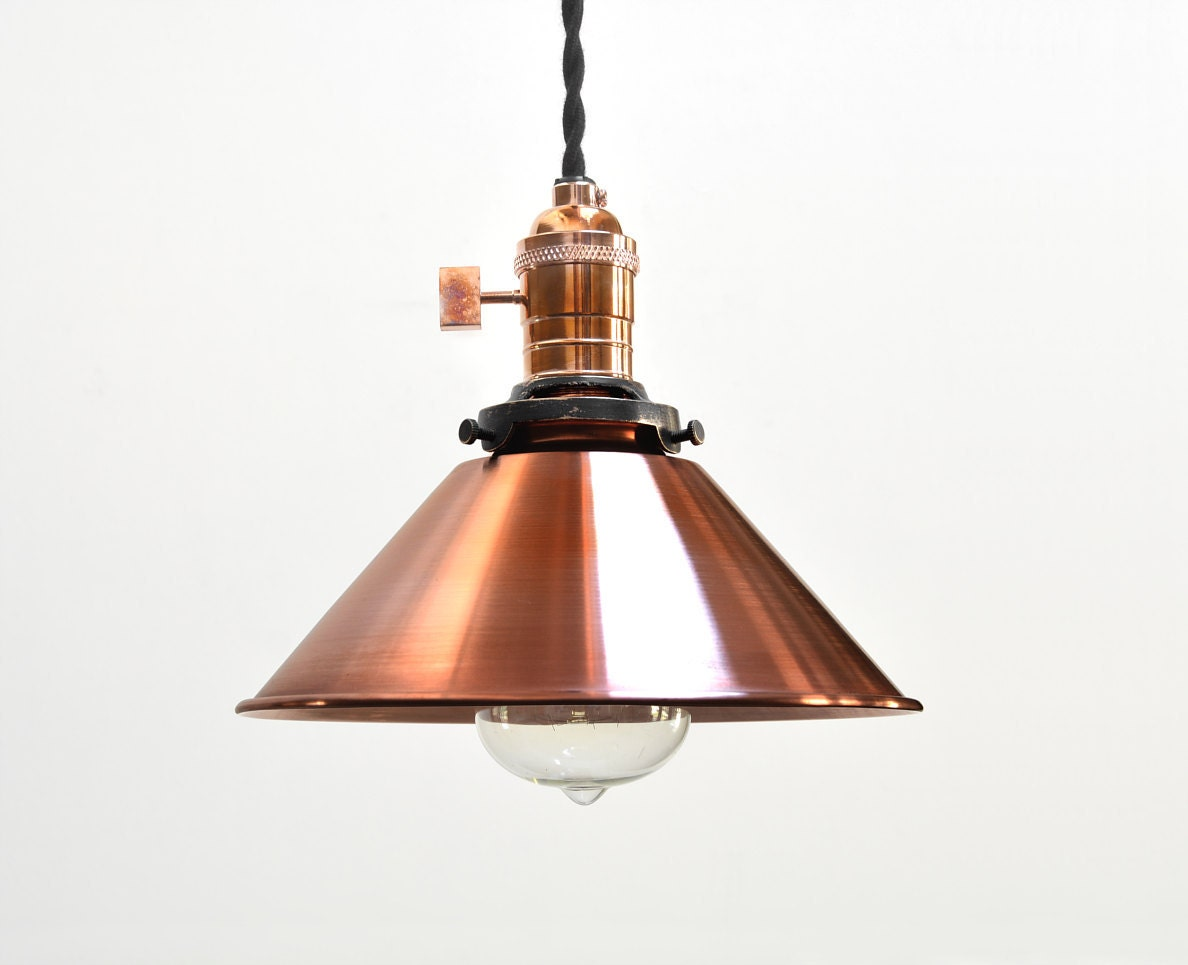Copper pendant light industrial pendant light vintage zoom aloadofball
