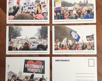Women's March Photo Postcard Set