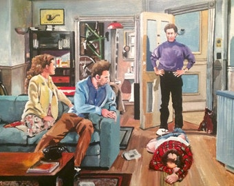 And you want to be my latex salesman! Seinfeld oil painting and prints