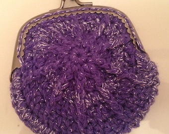 Pretty Purple Coin Purse, sweet and sassy way to carry your loose change .