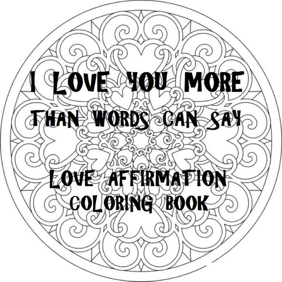 Love Coloring Book 20 Digital Download Pages PDF
