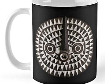 Bobo Bwa Sun Mask - Ceramic Mug / Ethnographic Art Image Series / Tribal Art – African Art / Coffee, Tea, Hot Toddy, etc