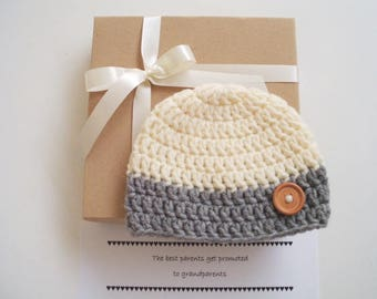 Pregnancy Announcement to Grandparents Pregnancy Reveal Grandparents Grandparent Announcement Pregnancy announcement Gender reveal hat