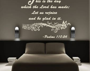 Psalms 118:24 Wall Decal