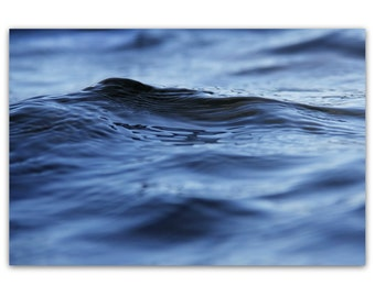 photography, nautical decor, abstract, blue, navy, beach house, minimalist - Water II, 16x24 photograph