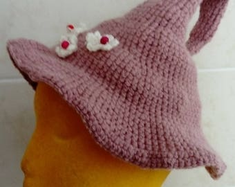 Little flower witchling hat. Child size. Made with love OOAK. Magical hats for Little Witchlings.