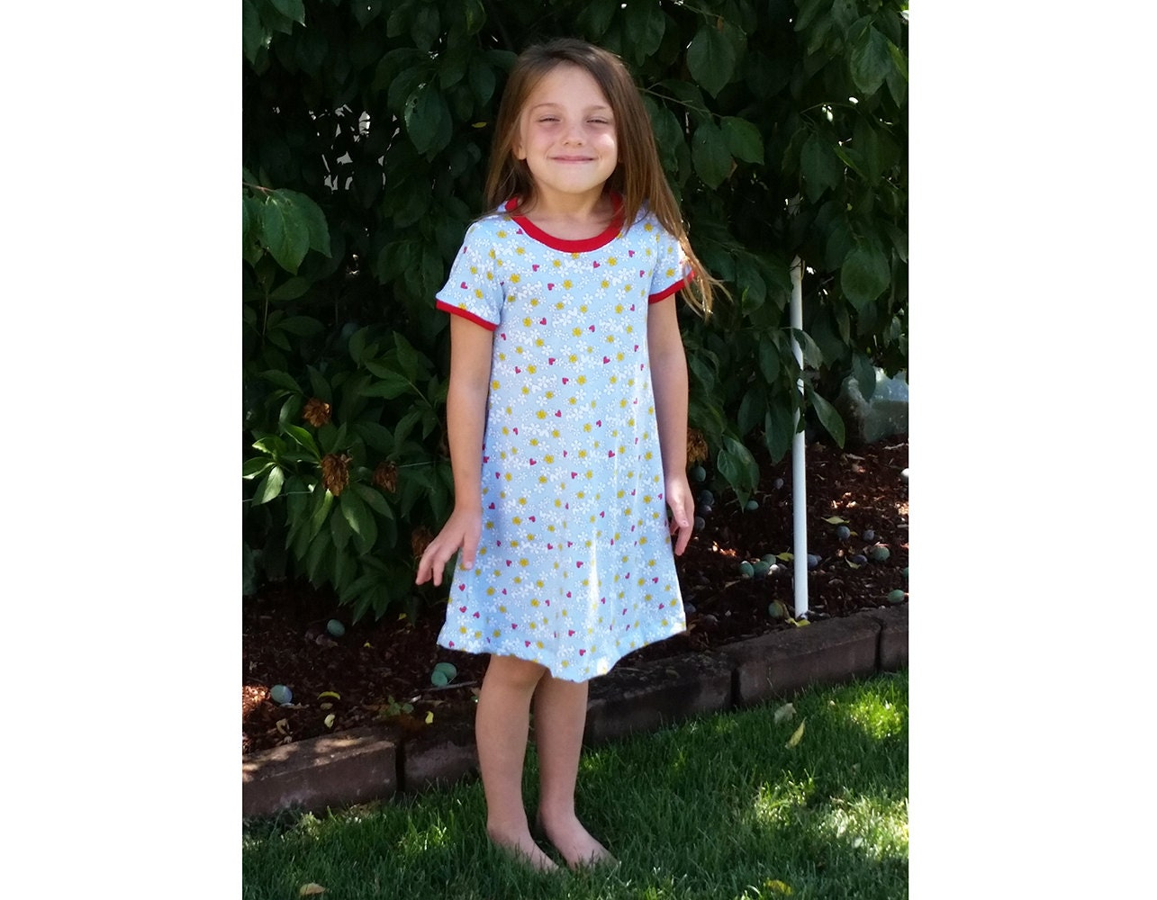 COLLEEN Girl Dress sewing pattern Pdf, Easy Knit Dress pattern ...