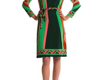 1960s Vintage Multicolor Psychodelic Print Dress  Size: S/M