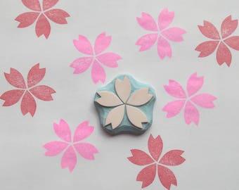 Cherry blossom Stamp, Cherry blossom rubber stamp, flower stamp, spring flower stamp, Cherry blossoms stamp, spring crafts, rubber stamp