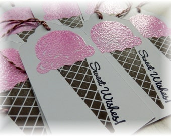 Sweet Wishes Tags - Ice Cream Cone Gift Tags (6)