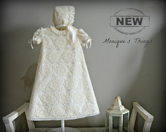 Baby Gown. VALENTINA.(Nb-18M).Ivory lace fabric.Custom your OWN outfit.Special celebration.Christening gown.Baptism.Naming.Blessing.Heirloom
