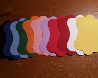 Cardstock tags - multiple colours