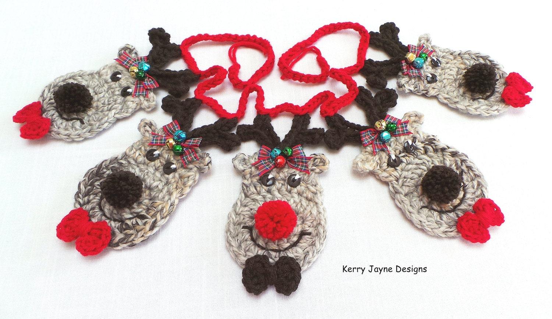 FESTIVE CROCHET PATTERN Reindeer bunting pattern Christmas