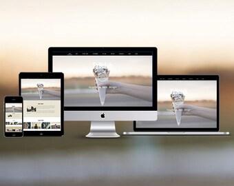 Modern Wordpress template, ecommerce website design, wordpress theme