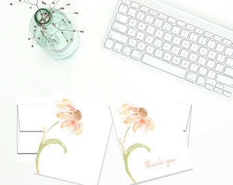 Printable Thank You Note Cards, Set of 2 Digital Note Cards, Blank Inside Cards PDF, A2 Size, Avery 8315