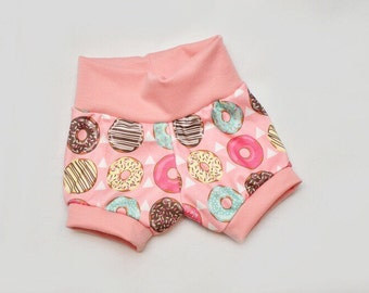 Organic Cotton Donuts and Teepees Infant/Toddler Mini Shorts Sizes Preemie-4T