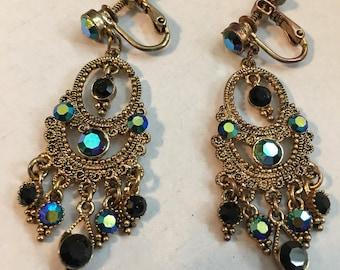 Vintage Screw Back Small Chandelier Earrings