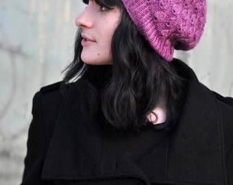Pavone slouchy Hat PDF knitting pattern (instructions)