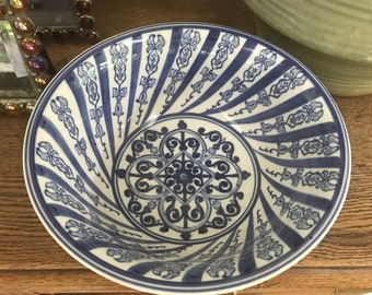 Blue and white Bombay bowl