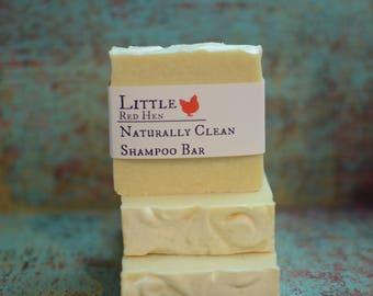 Naturally Clean Shampoo bar for sensitive scalp dandruff dermatitis psoriasis, tea tree lavender shampoo, travel soap whole body wash 5 6 oz