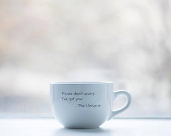 Mindful White Cappuccino Mug