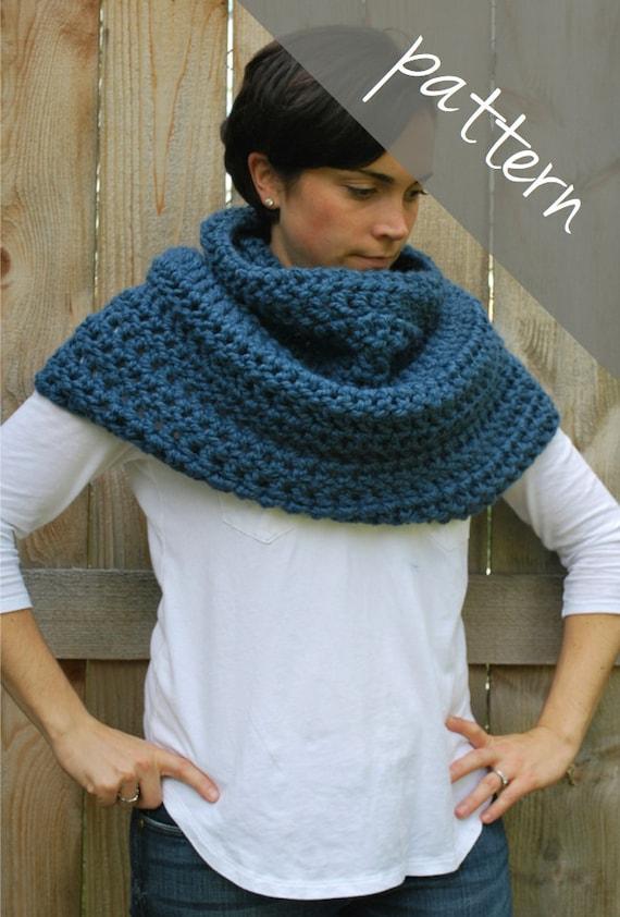 Crochet Pattern Cowl Poncho Cape Chunky Cowl Easy