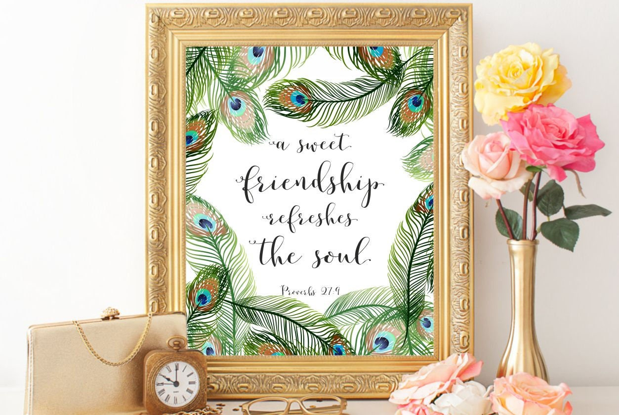 Arte Proverbios 27:9 Biblia verso pared arte cristiano arte de