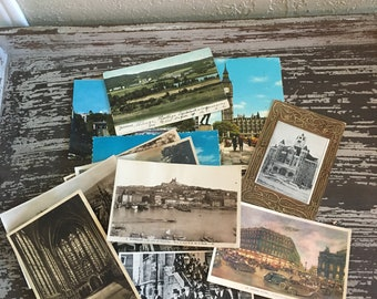Vintage Lot  Various Foreign Postcards 1909-1977