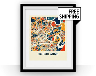 Ho Chi Minh Map Print - Full Color Map Poster