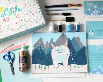 Kids Arts and Craft Kit-Yeti Collage