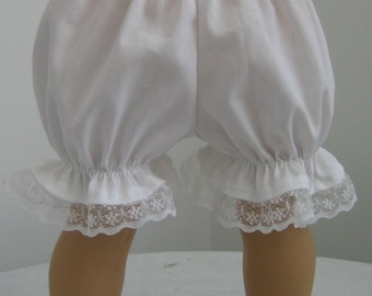 Doll Clothes-Made For American Girl Dolls,  Lace Trimmed Bloomers fit AMERICAN GIRL DOLLS