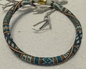"""crocheted """"Gorana"""" spiral necklace"""