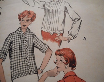 Vintage 1960's Butterick 8680 Chemise Shirt Sewing Pattern Size 16 Bust 36