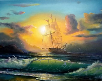 After the storm ** Original canvas oil paining
