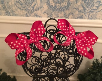 Red Polka Dot Boutique Bow Set