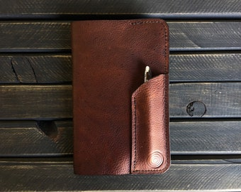 The Tracker BB//EDC field notes leather case