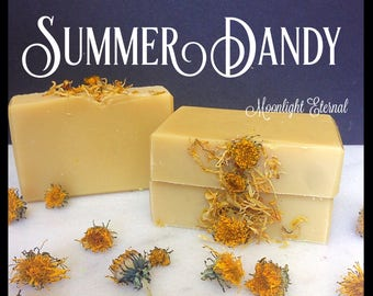 Summer Dandy Soap - Handmade Soap - All Natural - No Coconut Oil - No Artificial Fragrance - With Shea Butter - Lemongrass Essential Oil
