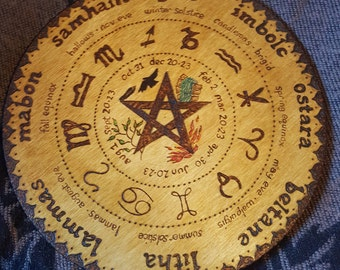 Wheel of the year wall hanging. Free UK postage