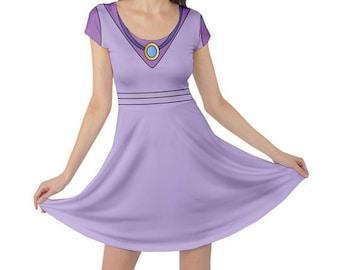 Made to Order (Ships in 4 weeks) Robin Hood  Maid Marian Inspired Cap Sleeve  Printed Dress