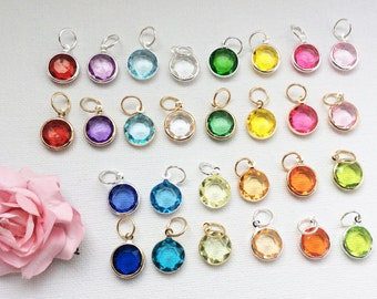 Large Add-on Birthstone charm, to add onto existing orders only!, bridesmaid gift, mothers day gift