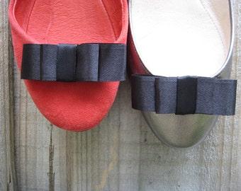 Black Grosgrain  Dior Bow Shoe Clips FREE SHIPPING