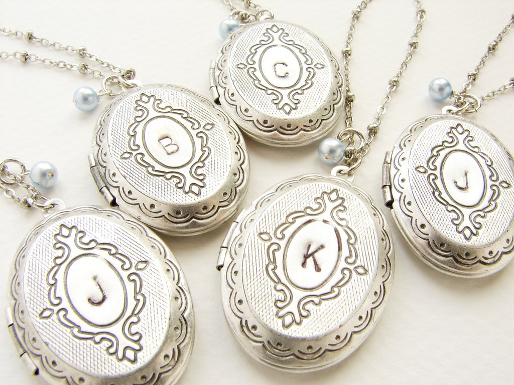 heart memorystation sterling monogram lockets shape locket vintage necklace