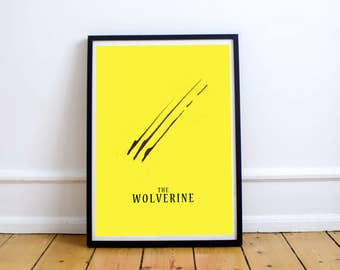 FREE SHIPPING** Wolverine Poster - Movie Poster, Logan Poster, Wolverine Print, Minimalist Poster, Movie Logan Wolverine, Wolverine Art