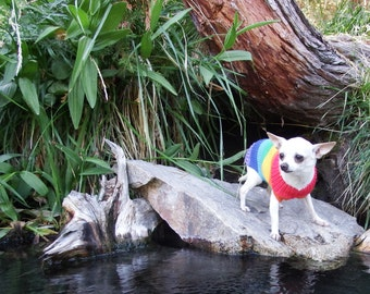 Dog sweater dog clothes Dog Jumpers. Clothes for dog.Sweater-Rainbow. Sweater for dog
