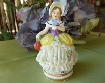 "Germany Meissen ""Sweet little Lady Pompadour"" Porcelain Lace"